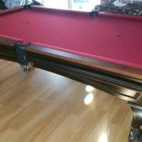 Like New Red Felt Brunswick Pool Table