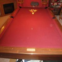 8' Brunswick Gold Crown Pool Table For Sale